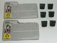 Lot 1986 GI Joe Cobra Infantry Vipers File Cards & Back Packs Accessories Gear
