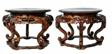 Chinese antique 19th Century Guangxu period large A Huanghuali Wood Stands