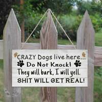 Funny Dog Signs For Home Hanging Wall Plaque Sign Xmas Gift For Dog Lovers New