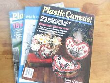 LOT OF 3 PLASTIC CANVAS DESIGN MAGAZINE MEDIEVAL BUNNY HEART