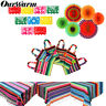 Mexican Party Tablecloth Table Runner Serape Felt Banner Paper Fan Decor