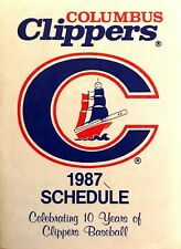 1987 Columbus Clippers Pocket Schedule