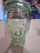 CLEAR Green Tint GLASS MANNEQUIN HEAD WIG Headphone Sunglass DISPLAY HAT 11""