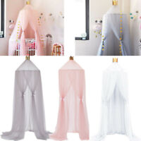 Princess Crown Bed Canopy Kids Childrens Girls Insect Mosquito Net Round Lace