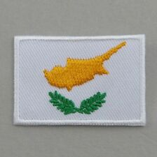 Cyprus Flag Small Iron On/ Sew Cloth Patch Badge Appliqué Κύπρος Kibris Cypriot