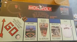San Francisco Giants 2003 Monopoly  Board Game USA FLAWED BOX Wrapped & Sealed
