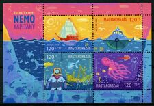 Hungary 2019 MNH Jules Verne Captain Nemo 4v M/S Boats Sharks Marine Fish Stamps
