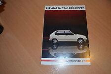 DEPLIANT Citroën Visa GTi de septembre 1984
