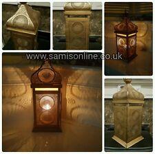 Large Arabian Moroccan Ornate Vintage Gold Tall Metal 36cm Lantern Eid Ramadan