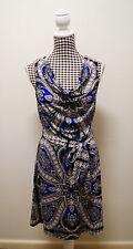 INC INTERNATIONAL CONCEPTS DRESS MULTI PRINT COWL DRESS, Sz L/12 NWT