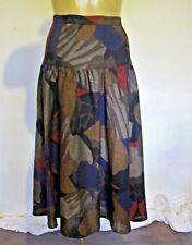 SKIRT Genuine 1980s VINTAGE Dropped Full CIRCLE Skirt Wraggs Sz 6-8 Retro Midi