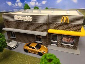 S Scale  (1:64) Building/Fast Food Restaurant/Scratch Built/Layout