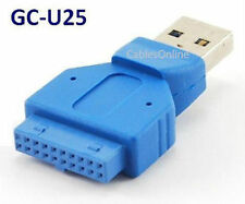 USB 3.0 Motherboard 20Pin Header to USB Type-A Male Adapter, CablesOnline GC-U25