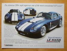 SUPERFORMANCE Daytona Le Mans Coupe orig UK Market brochure - Shelby Peter Brock