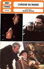 FICHE CINEMA : L'ORIGINE DU MONDE - Zem,Molina,Bashung,De Palma,Enrico 2001