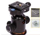 Pro Metal Ball Head+Quick-release Plate for Monopod Tripod&Canon Camera DSLR