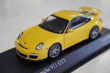 Porsche 911 GT3 (997 II) 2009 gelb Minichamps 1:43 neu & OVP 400068021