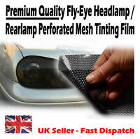 1400mm x 600mm Black Fly-Eye Road Legal Mesh Tinting Film Head / Rear Light Lamp