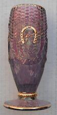Corn Vase-Lite purple whimsey color-DE..1982 HOACGA Carnival Glass Club souvenir