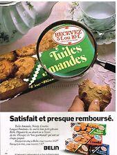 Publicité Advertising 1977 Les Biscuits Tuiles amandes Crouska Noisety de Belin