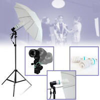Photography Photo Studio Continuous Lighting One Umbrella Light Lamp Stand Kit