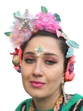 Mermaid Pom Pom Pastel Crown Headband Festival Boho Frida Kahlo Headdress