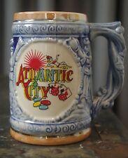 Atlantic City Luster Ware Mug Stein Souvenir Opalescent Vintage Mid Century USA