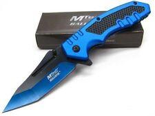 Couteau Tactical Urban Mtech Blue Tanto Lame Acier Inox Manche Alu MTA929BL