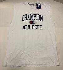 Nwt Mens Champion White Sleeveless Muscle Shirt Tshirt Medium TALL