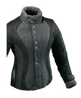 Ixon Ladies Vega Curl Waterproof Textile Motorcycle Motorbike Jacket Black Grey