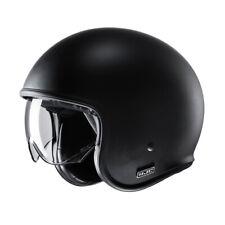 HJC V30 Matt Black Retro Helmet ECE Poly Carbonate Shell With Sunshield V30MB