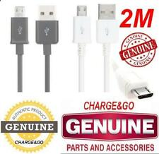 2 M Metre Genuine CE Samsung Galaxy Tab A & Tab E J1 NXT Micro USB Charger Cable