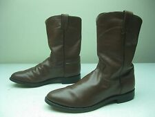 DISTRESSED JUSTIN ROPERS CARMEL HONEY BROWN 3404 BRONC BUSTIN BOOTS SIZE 10 E
