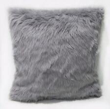 Fm733a Gray Faux Soft Thick Long Fur Cushion Cover/Pillow Case*Custom Size*