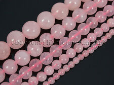 Natural Rose Quartz Gemstone Round Beads 16'' 2mm 3mm 4mm 6mm 8mm 10mm 12mm