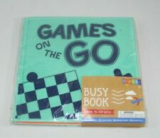 """Busy Books """"Games on the Go"""" Book & Felt Pieces Checkers Maze Tic Tac Toe New"""