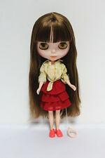 "12"" Takara Neo Blythe Dolls from Factory Nude Dolls Brown Straight Hair 021L"