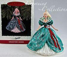 1995 Hallmark Holiday Barbie Keepsake Ornament Doll 3rd Series Celebration #3