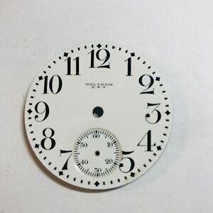 Vintage Waltham 18S Pocket Watch Dial N.O.S.