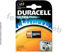 PILA BATTERIA DURACELL ULTRA PHOTO 3V LITIO 123 DL123A/CR123A/EL123A FOTOCAMERA