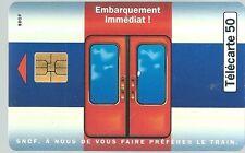 Télécarte carte téléphonique SNCF RER B Châtelet Roissy 1 train tous les 1/4 d'h