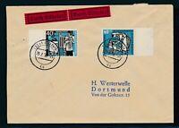 Bund 1956, Mi. 246 + 273 Brief, portorichtiger Eilbrief!