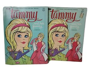 Vintage 1964 Tammy and Her Family 128 page Coloring Book Lot 1 Unused Doll