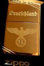 ZIPPO Vintage Gold - REICHSADLER mit Namensgravur KOSTENLOS - CNC Gravur