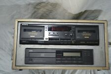 SONY TC-WR635S Cassette Deck and MTC CD Player Professional Grade DJ Equipment C