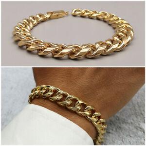 Bracciale da uomo in acciaio inox a catena braccialetto intrecciato oro maglie