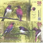 ATLANTIC FOREST 28 AVES DOLLARS 2016 LOTE DE 5 BILLETES