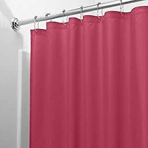 Shower Curtain Liner Burgundy  Vinyl Machine Washable