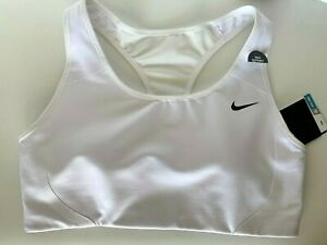 "NEW! NIKE [XL] Women DRI-FIT ""Y"" Back HIGH SUPPORT Sports Bra-White 706579-101"