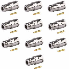 N Female Connector RG-8,9913,9913F7,LMR400/UF (No Crimp Tool Required) - 10 PACK
